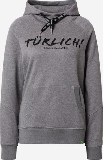 Derbe Sweatshirt 'Na Türlich' in de kleur Grijs / Zwart, Productweergave