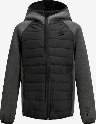 Jack & Jones Junior Sweatjacke in grau / schwarz, Produktansicht