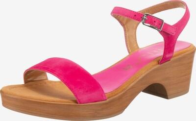 UNISA Plateau-Sandaletten 'Irita' in braun / pink, Produktansicht