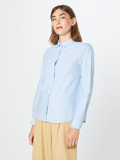PIECES Bluse in hellblau, Modelansicht