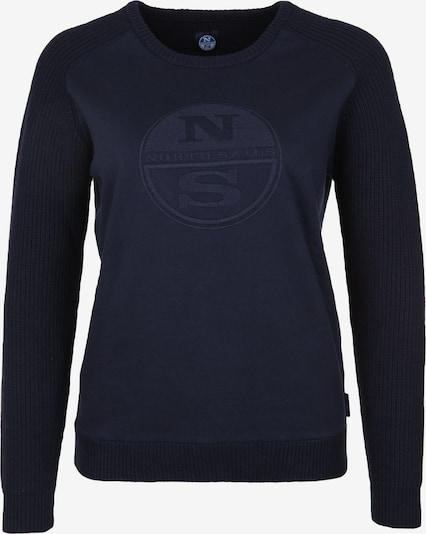 North Sails Trui 'ROUND NECK LOGO' in de kleur Navy, Productweergave