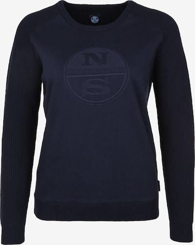 North Sails Strickpullover 'ROUND NECK LOGO' in navy, Produktansicht