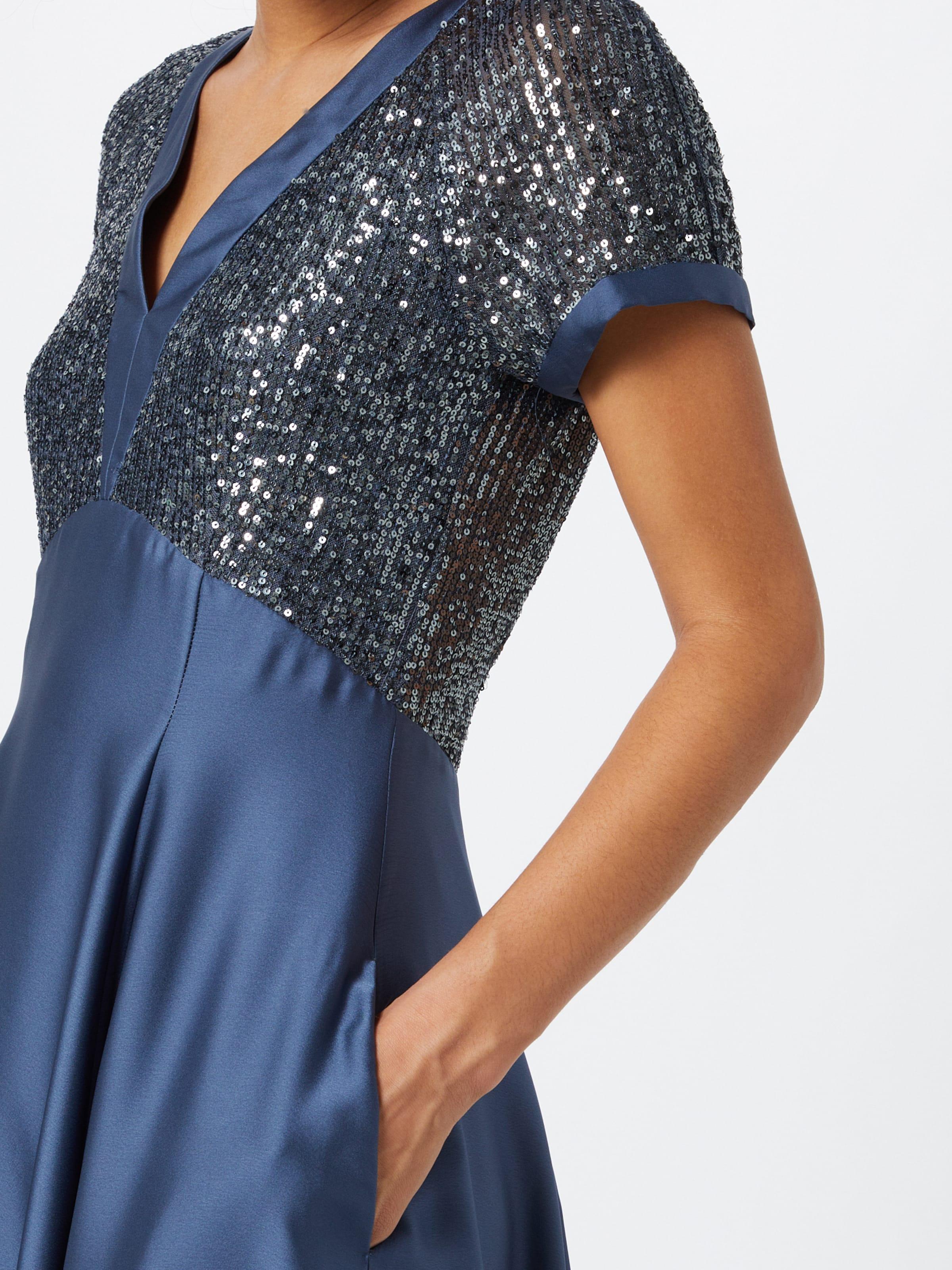 SWING Cocktailklänning i indigo / silvergrå
