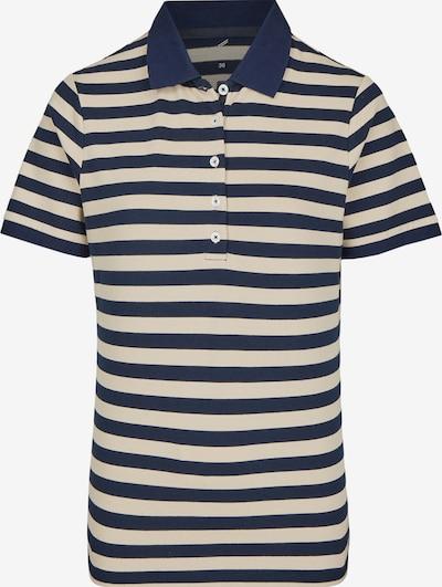 DANIEL HECHTER Poloshirt in beige / nachtblau, Produktansicht