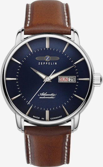 Zeppelin Uhr 'Atlantic' in nachtblau / karamell / silber, Produktansicht