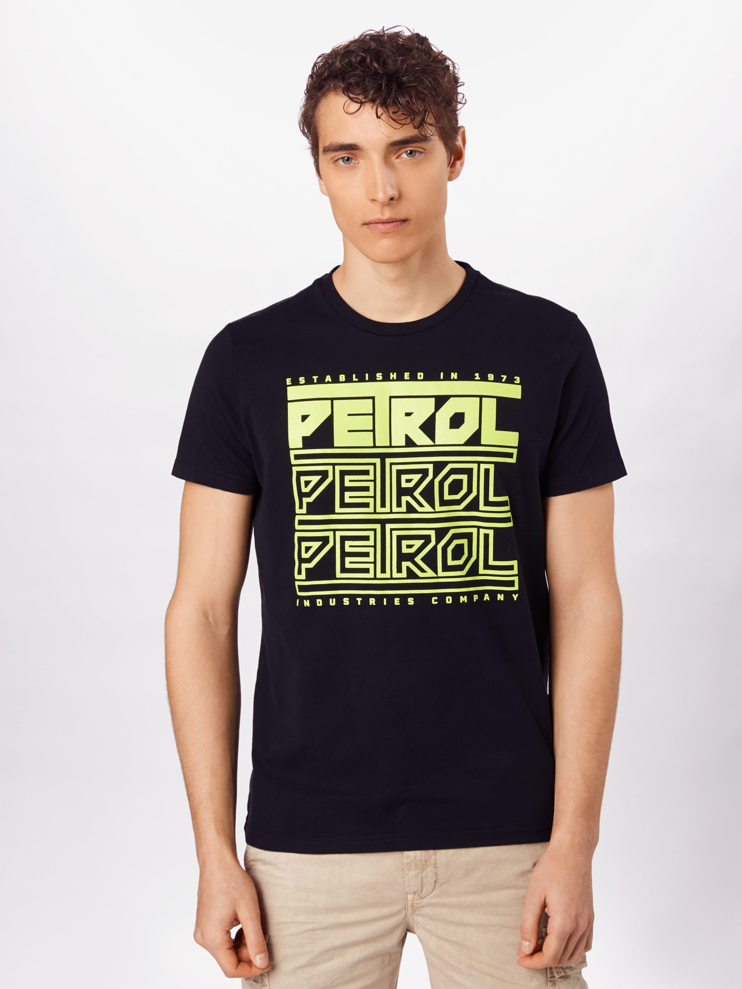 Petrol Industries T-Shirt in neongelb / schwarz Jersey 8720056234953