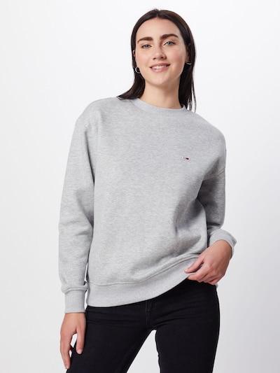 Tommy Jeans Sweatshirt 'TJW TOMMY CLASSICS' in grau: Frontalansicht