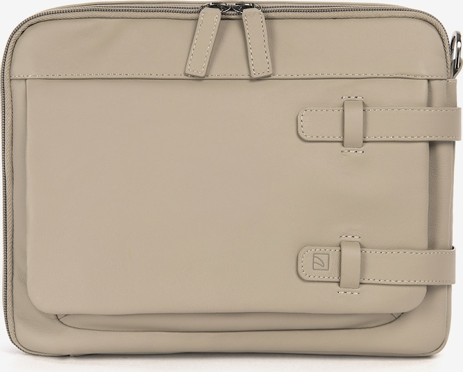 TUCANO Tablethoes 'Leather shoulder bag 10 inch' in de kleur Beige, Productweergave