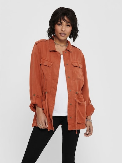 ONLY Utility Jacke in rostbraun: Frontalansicht