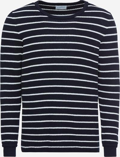 NOWADAYS Pullover 'heavy structure cotton sweater' in schwarz / weiß, Produktansicht
