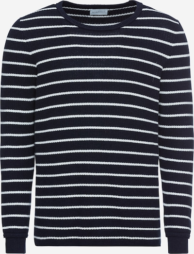 Pulover 'heavy structure cotton sweater' NOWADAYS pe negru / alb, Vizualizare produs