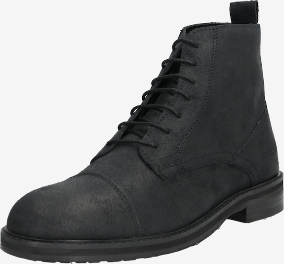 Hudson London Veterlaarzen 'ROWAN TOE CAP BOOT' in de kleur Zwart, Productweergave
