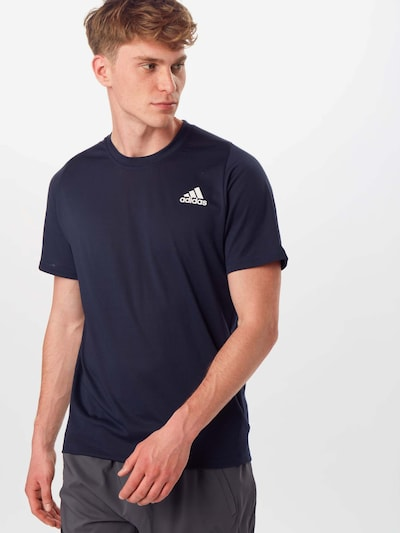 ADIDAS PERFORMANCE T-Shirt fonctionnel 'FreeLift Sport Prime Lite' en marine / blanc: Vue de face