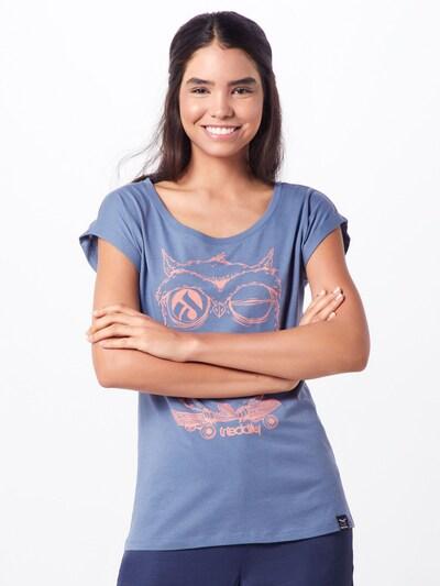 Iriedaily T-shirt 'Skateowl 2' en bleu ciel: Vue de face