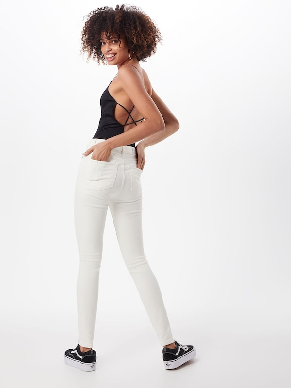 But' Jean Review 'skinny Cassé Blanc White En SVpGUMqz