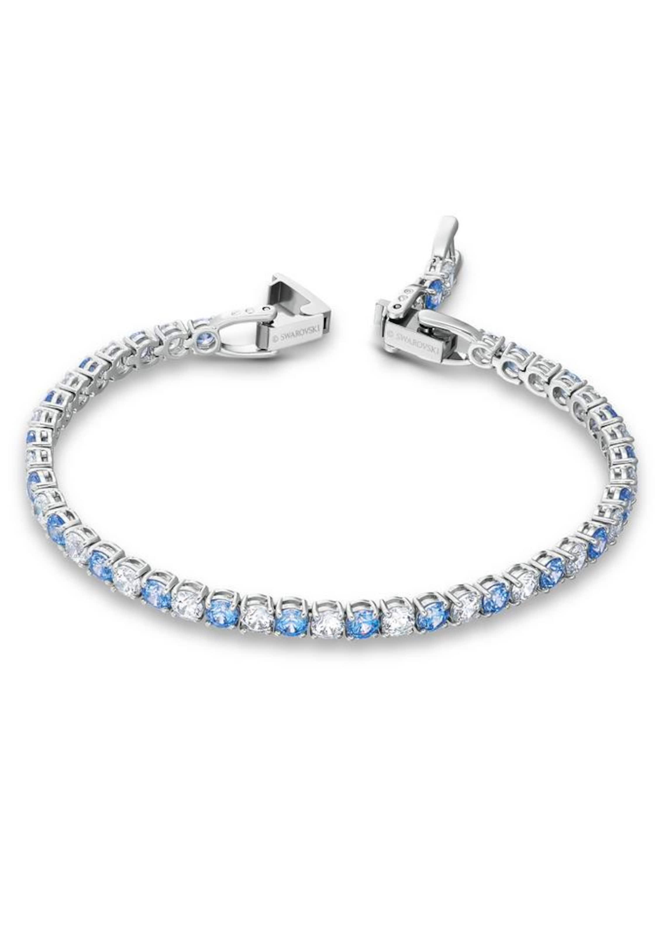 Swarovski Armband i blå / silver / transparent