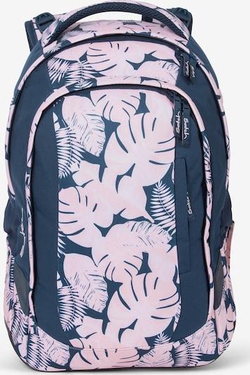 Satch sleek Schulrucksack 45 cm in nachtblau / hellpink, Produktansicht