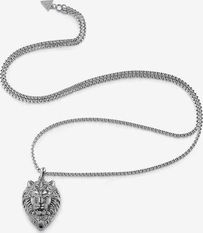 GUESS Kette 'Lion Charm' in silbergrau, Produktansicht