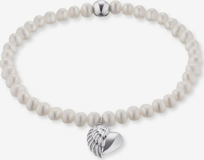 Engelsrufer Armband 'Herzflügel Charm, ERB-Heartwing-PE' in silber / perlweiß, Produktansicht
