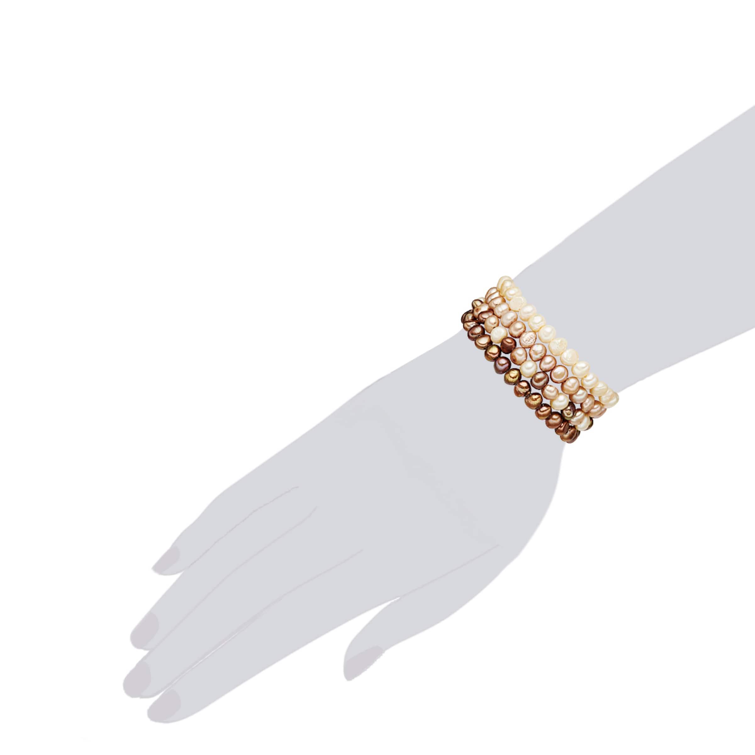 Angebote Zum Verkauf Tolle Valero Pearls Armband mit Süßwasser-Zuchtperlen Bestes Geschäft Zu Bekommen Pgron6K3p0