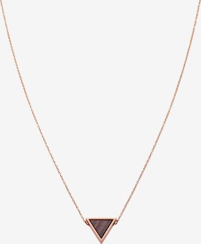 Kerbholz Kette 'Geometrics' in braun / rosegold, Produktansicht