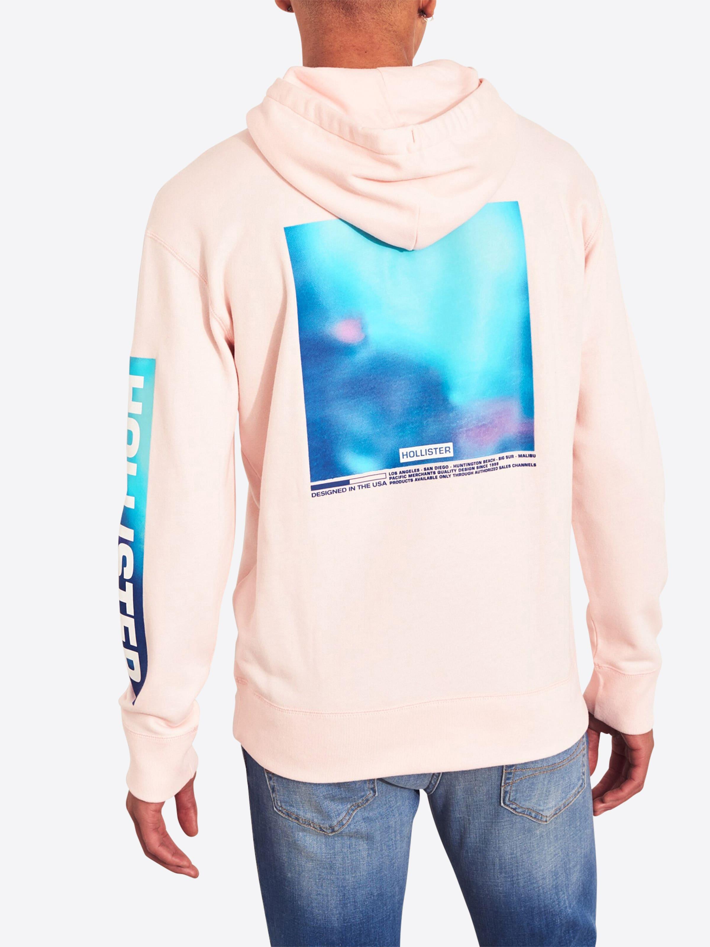 Sweat BleuRose Hollister shirt En vnymN80wOP