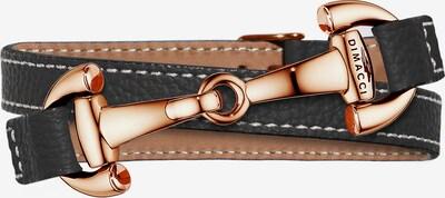 Dimacci Armband 'Alba' in bronze / schwarz, Produktansicht