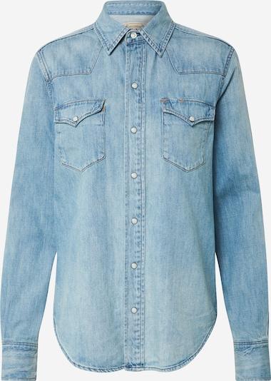 POLO RALPH LAUREN Bluse in blue denim, Produktansicht