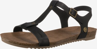 MUSTANG Sandale in schwarz, Produktansicht