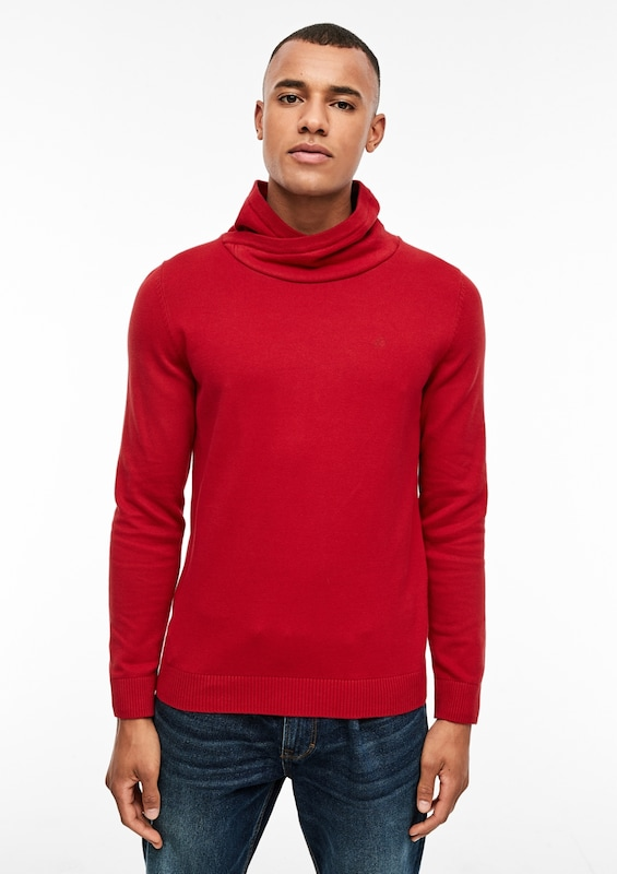 s.Oliver Pullover in rot: Frontalansicht