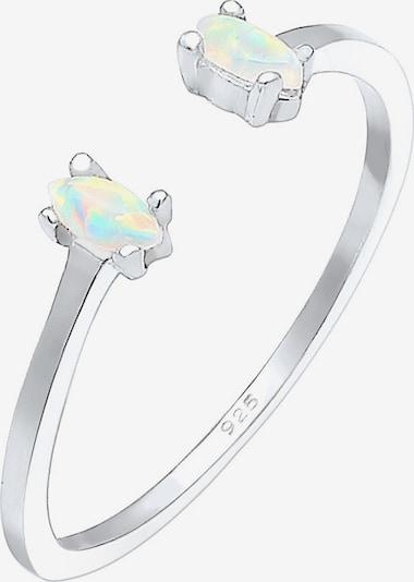 ELLI Ring 'Opal' in silber, Produktansicht