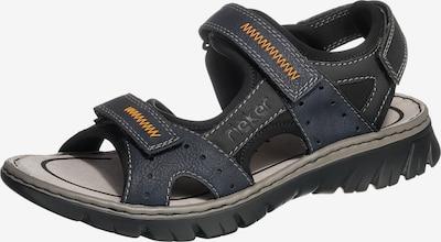 RIEKER Sandale in ultramarinblau / schwarz, Produktansicht