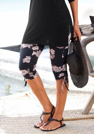 LASCANA Leggings in nachtblau / rosa, Modelansicht