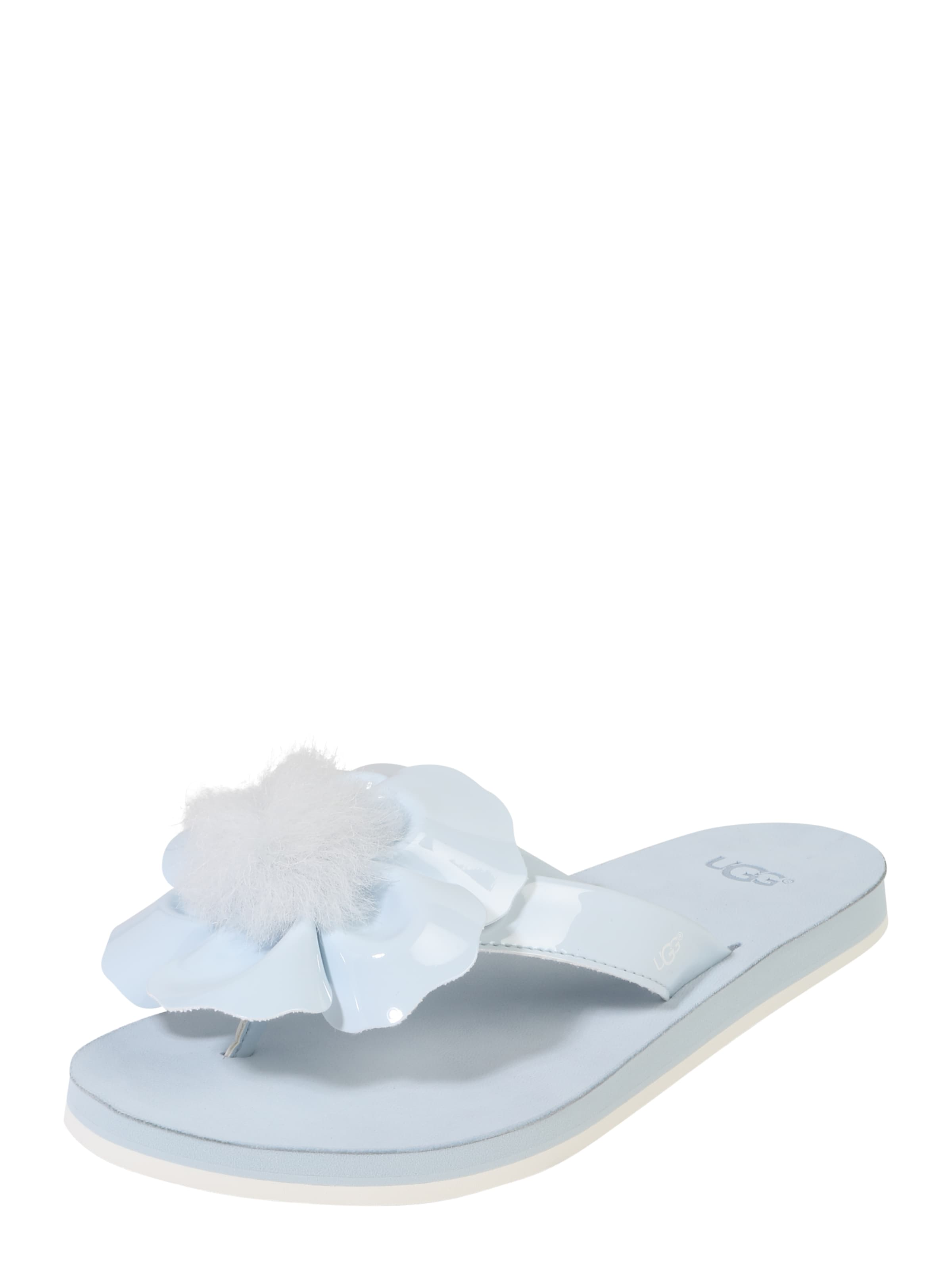 Ugg Santal « Coquelicot » Bleu Clair / Blanc RshD68ncm