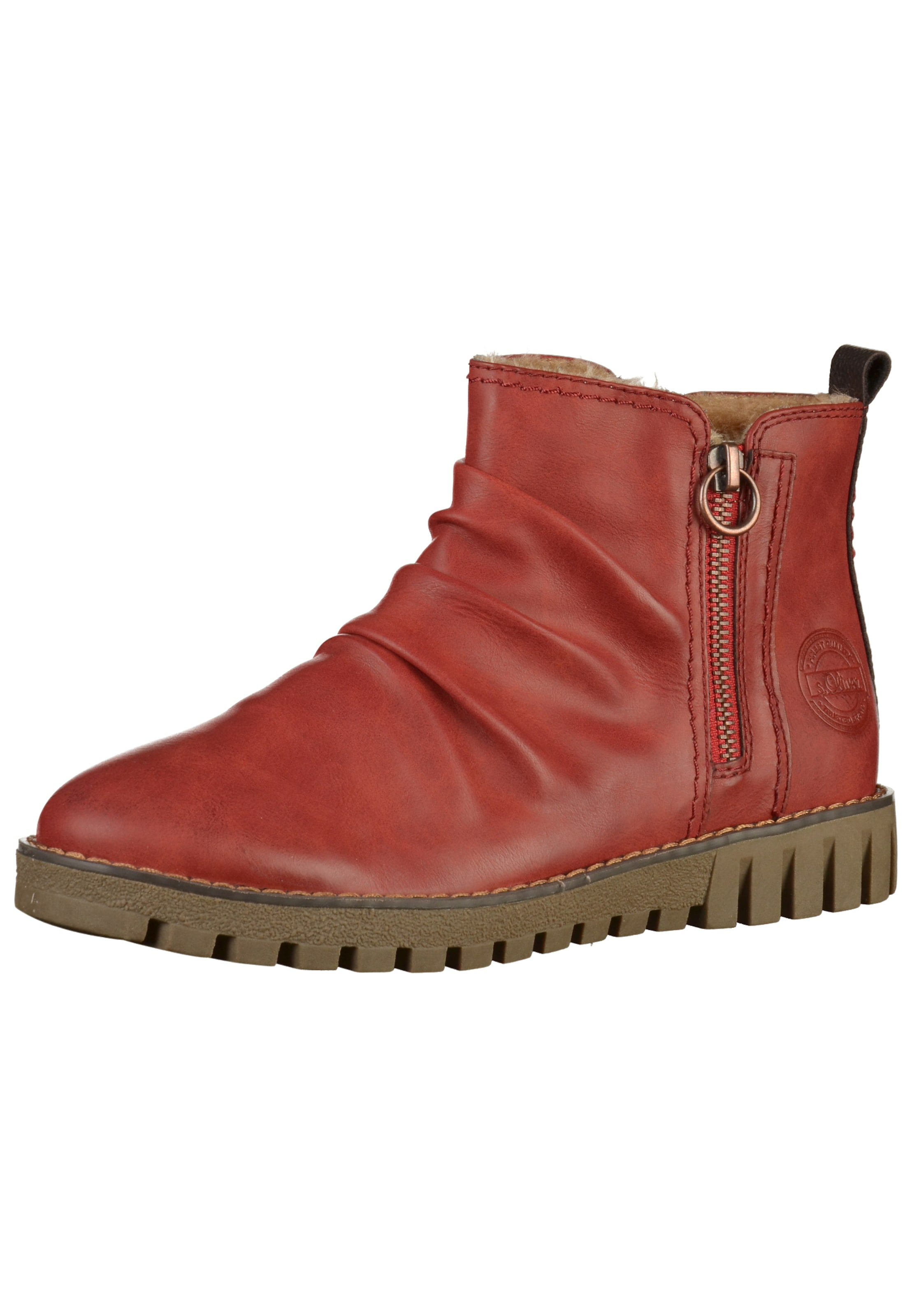 Red Stiefelette Rot oliver Label In S KJcT31lF