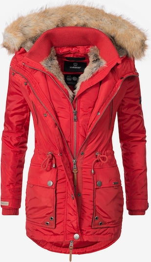 MARIKOO Winter parka 'Grinsekatze' in red, Item view