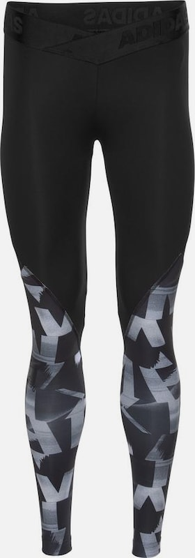 ADIDAS PERFORMANCE Tights 'Alphaskin Sport Level S S P L' in taubenblau   grau   schwarz  Neu in diesem Quartal