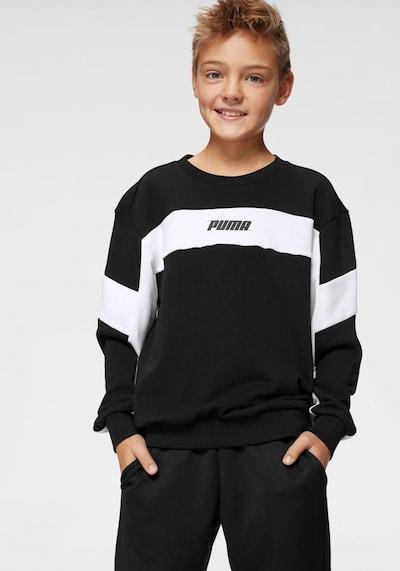 PUMA Sweatshirt 'Rebel Crew' in schwarz / weiß: Frontalansicht