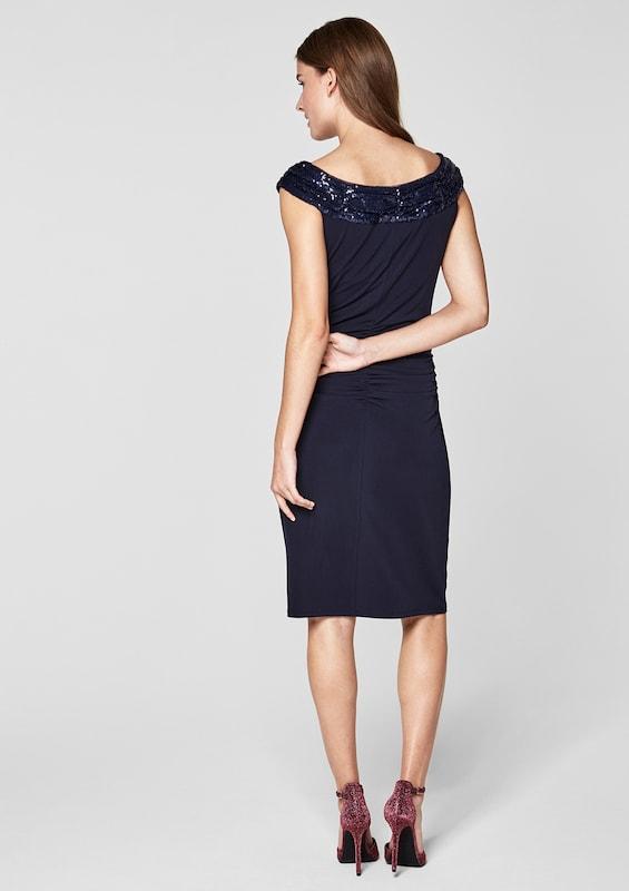 s.Oliver BLACK LABEL Figurbetontes Kleid mit Pailletten