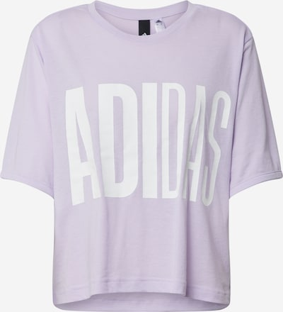 ADIDAS PERFORMANCE T-Shirt in flieder / weiß: Frontalansicht