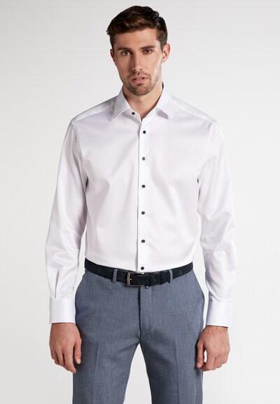 ETERNA Zakelijk overhemd in de kleur Enziaan / Lichtblauw / Wit: Vooraanzicht