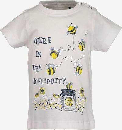 BLUE SEVEN Baby T-Shirt für Mädchen in gelb / weiß, Produktansicht