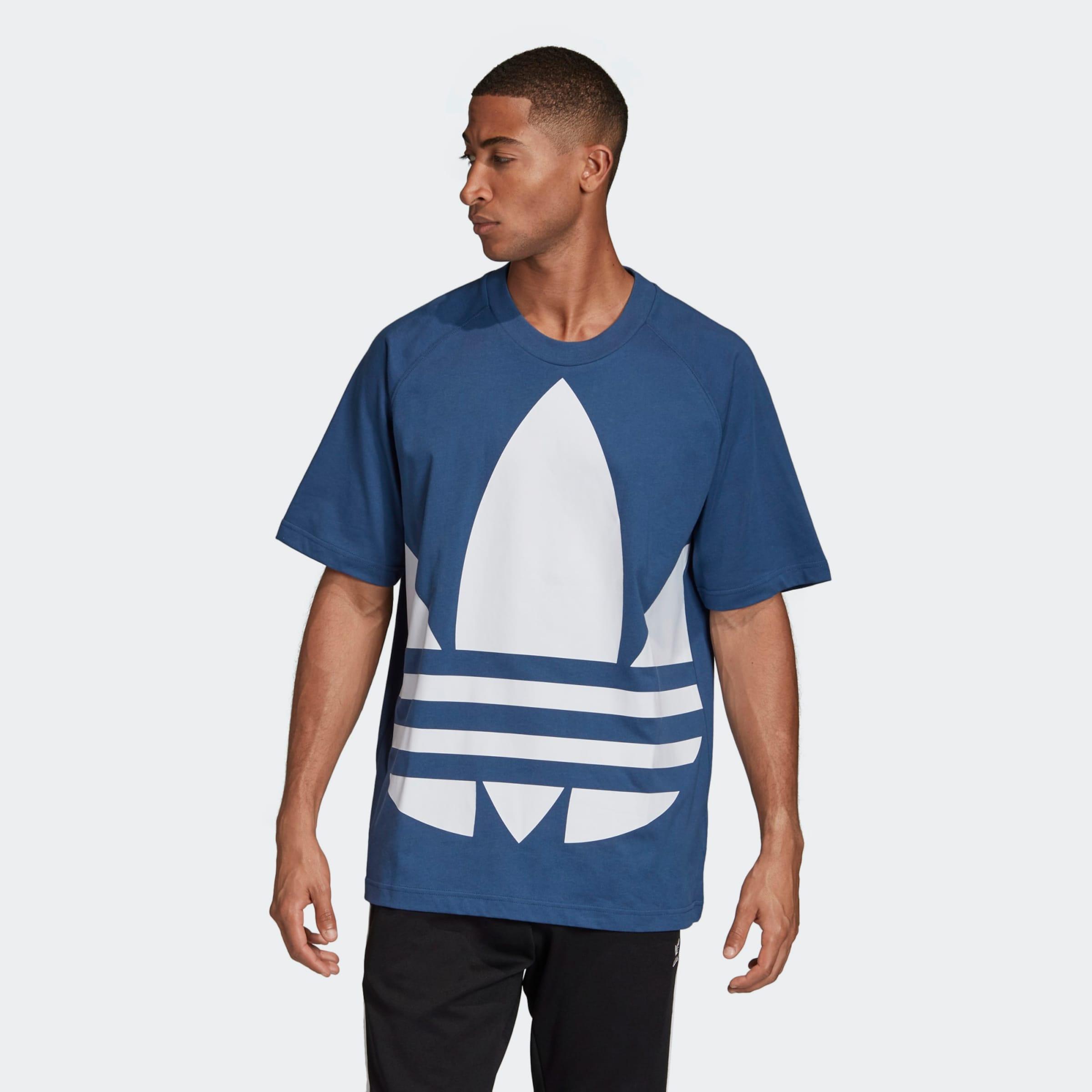 ADIDAS ORIGINALS Shirt 'BG TREFOIL TEE' in blau Logoprint KT495035010