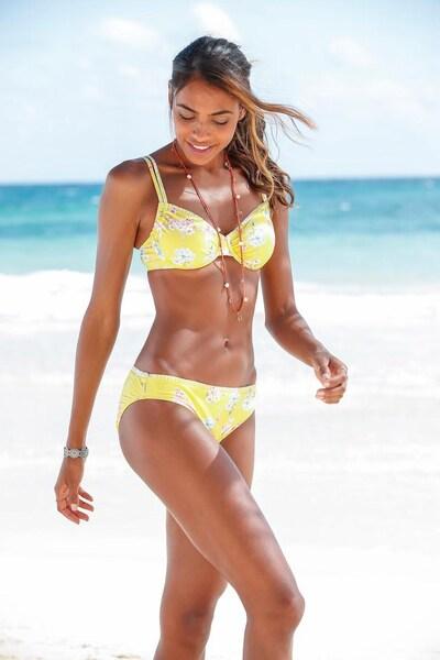SUNSEEKER Bikini-Top 'Ditsy' in gelb / mischfarben: Frontalansicht