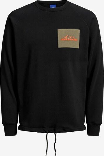 JACK & JONES Sweatshirt in khaki / schwarz: Frontalansicht