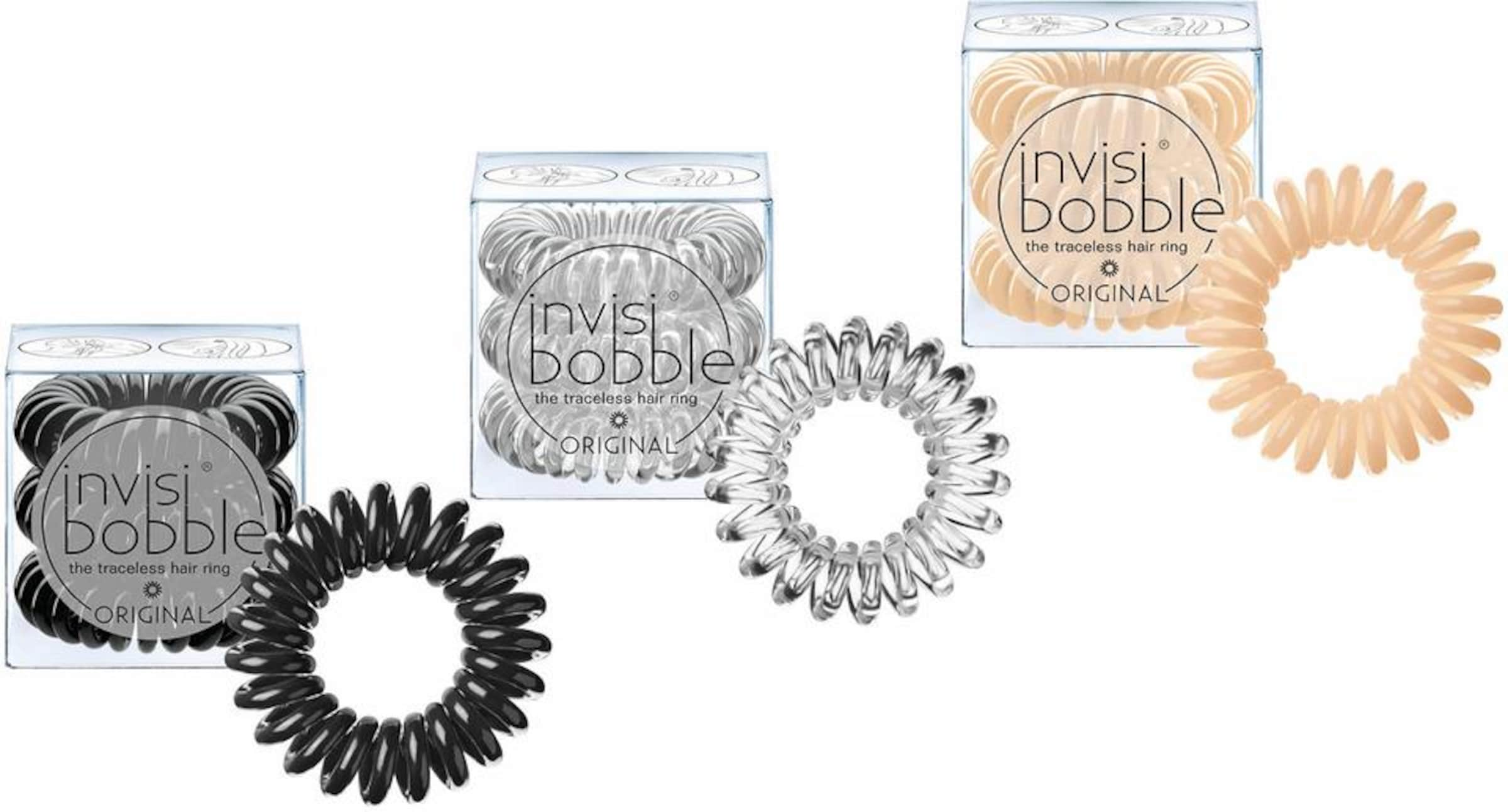 In Transparent NudeSchwarz Spiral haargummi Invisibobble roedCBx