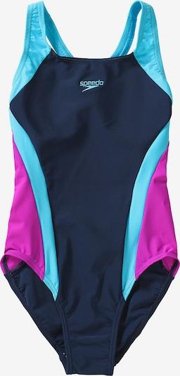 SPEEDO Badeanzug 'Contrast Panel' in hellblau / dunkelblau / pink, Produktansicht