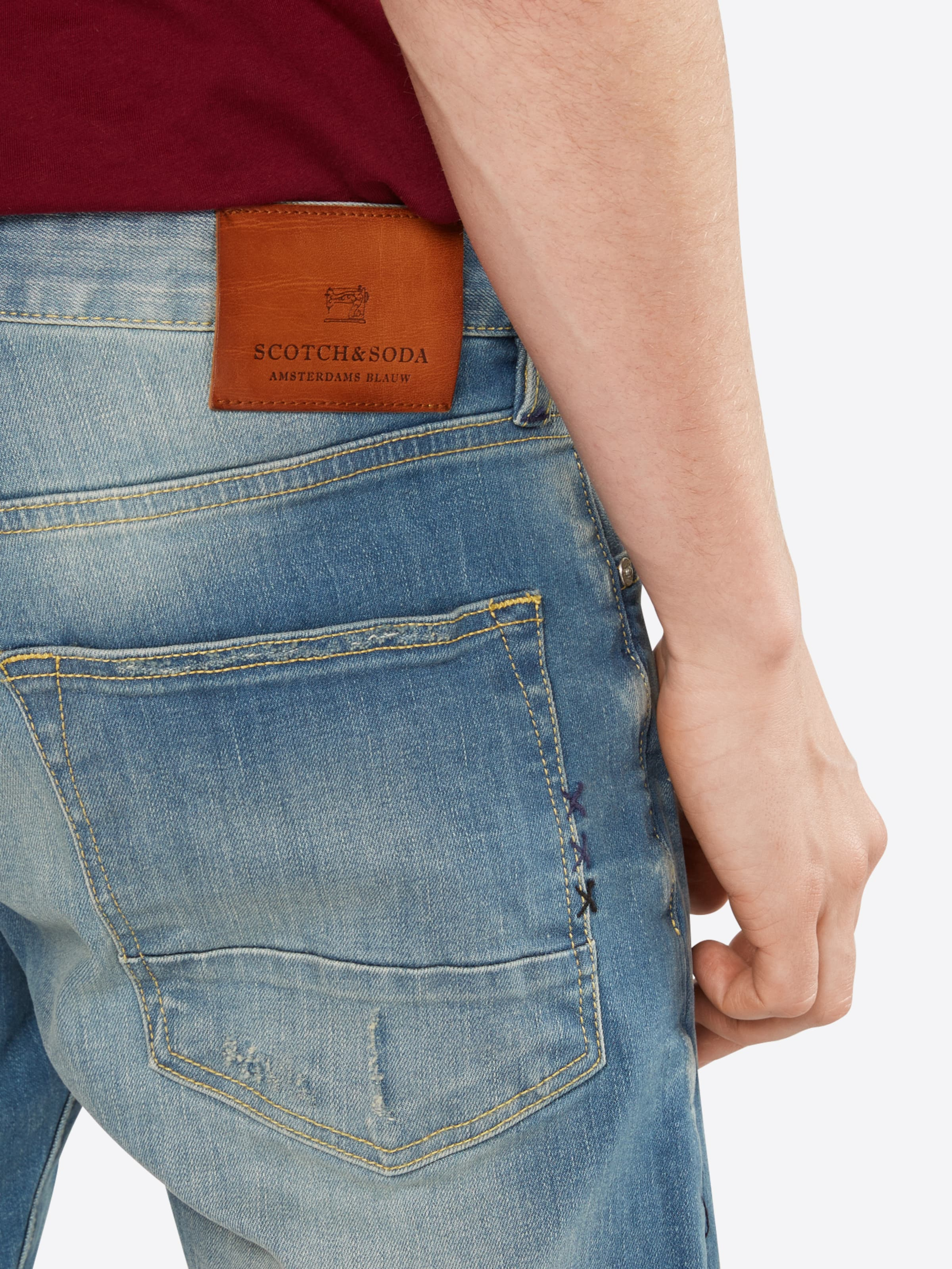 Outlet Online-Shop Niedrig Versandkosten Für Verkauf SCOTCH & SODA Jeans 'Ralston - Seaboots Repair' Freies Verschiffen Eastbay WNShKw