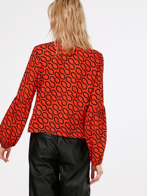 Guess Rouge En Tunique OrangéNoir 'hazel' SVpzUMGq