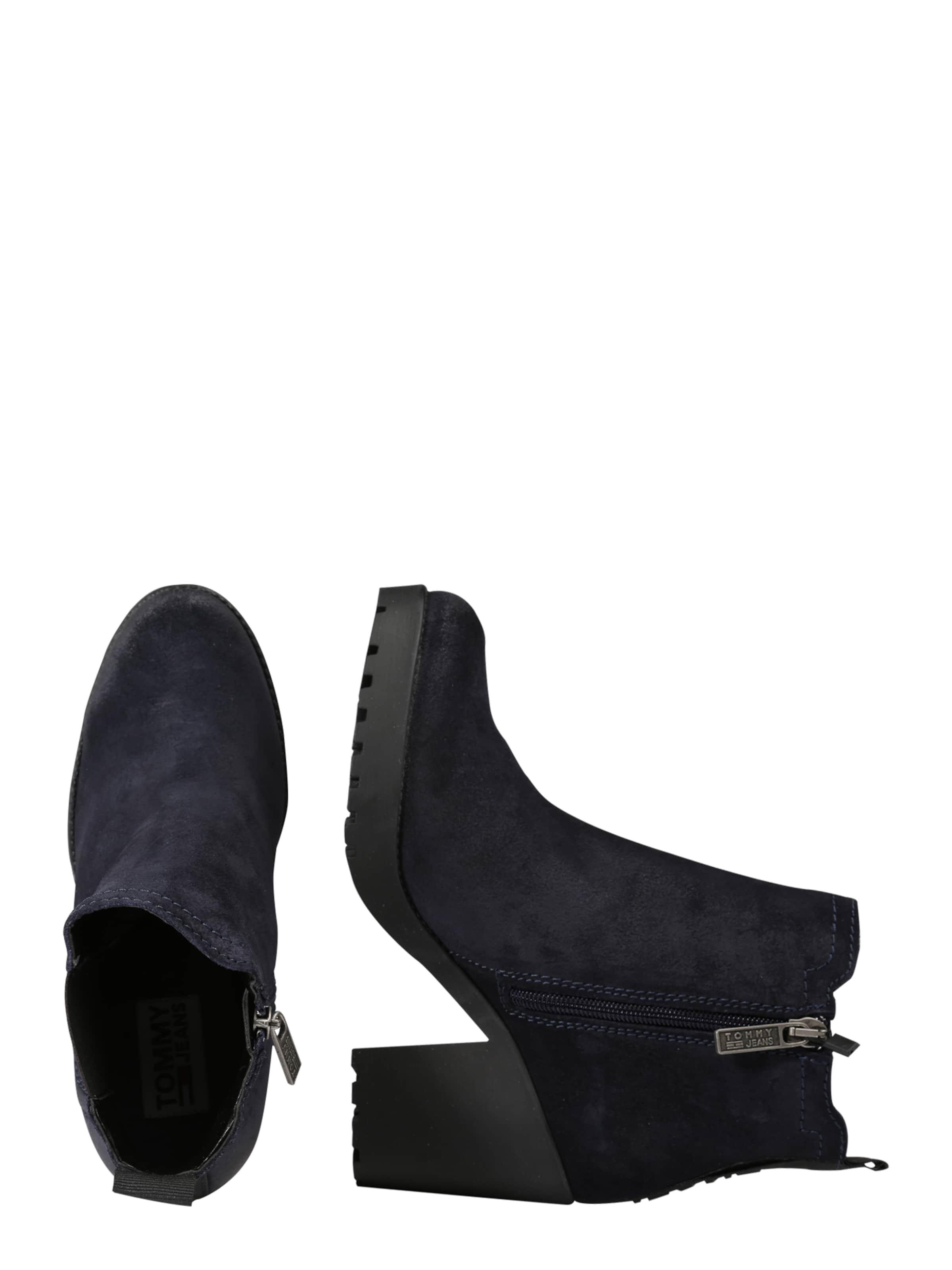 Tommy Jeans Leder boot In 'essential' Nachtblau F1uTcKlJ3